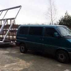 transport konstrukcji stalowej na lawecie