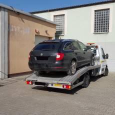 Pomoc Drogowa Zico podczas transportu samochodu Skoda