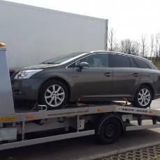 Pomoc Drogowa Zico podczas transportu samochodu Toyota Avensis kombi