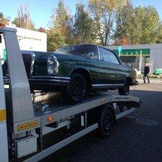 Mercedes w111 coupe w drodze do renowacji