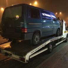 Pomoc Drogowa Zico podczas transportu samochodu VW T4